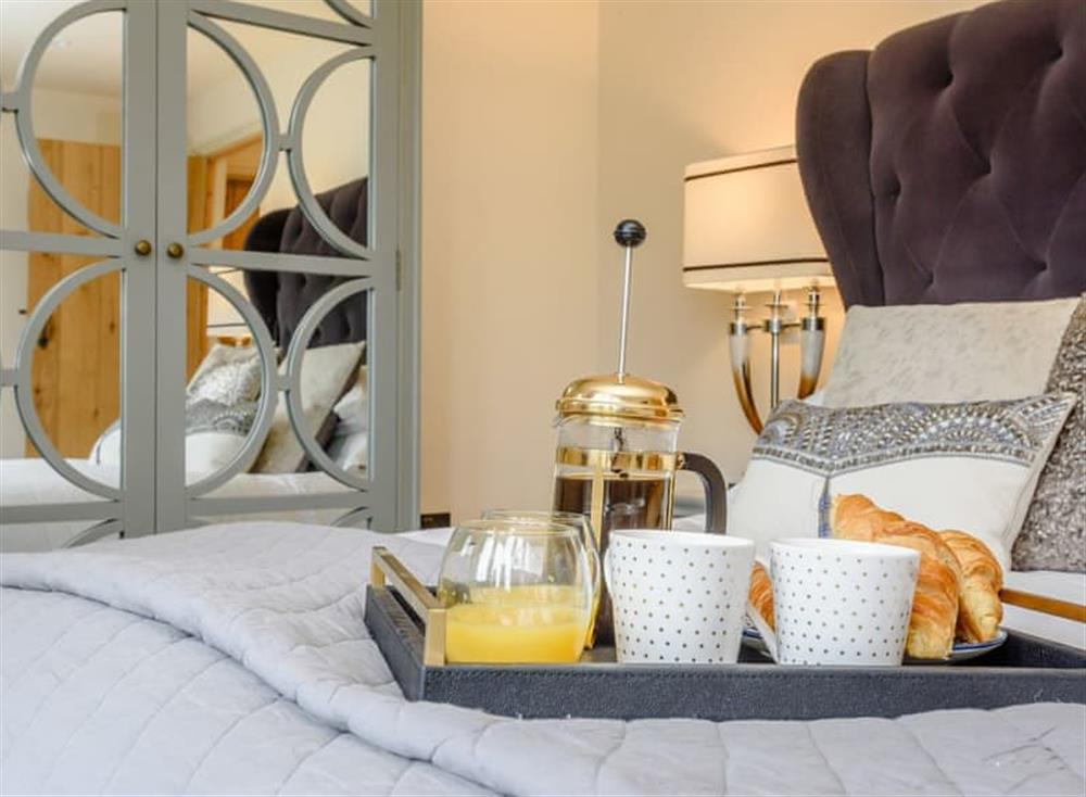 Stylish double bedroom at Deer View Cottage,
