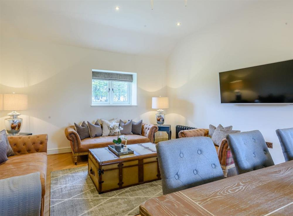 Living area at Enchanted Cottage,
