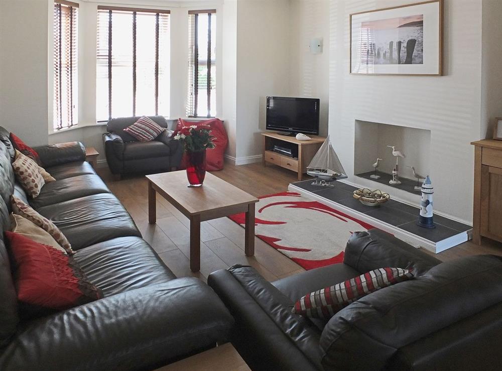 Living room/dining room at Samphire in Bacton, Norfolk