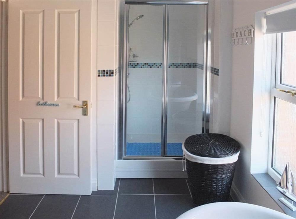 Shower room at Samphire in Bacton, Norfolk