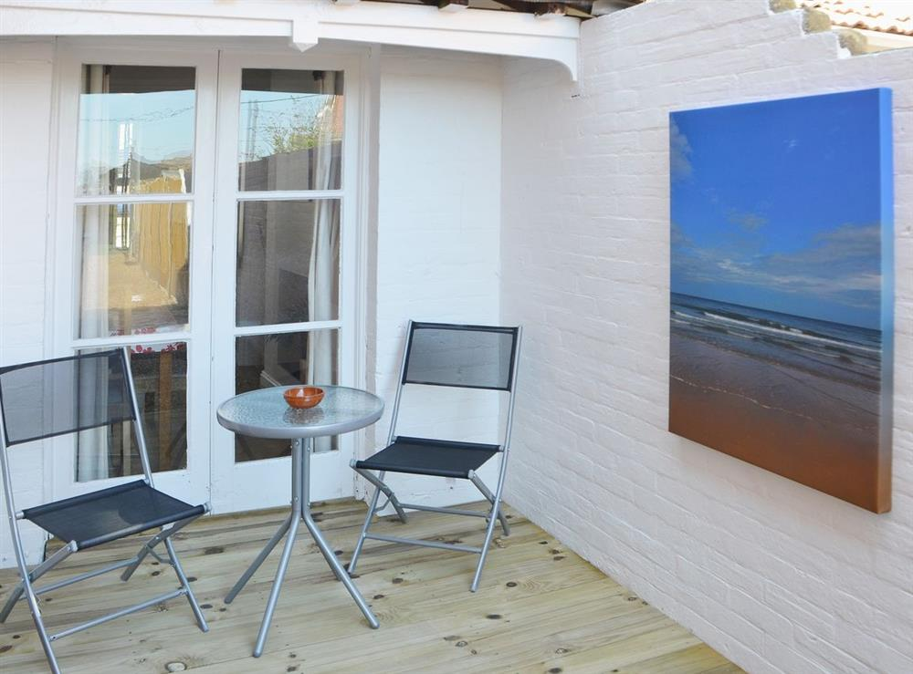Sitting-out-area at Samphire in Bacton, Norfolk