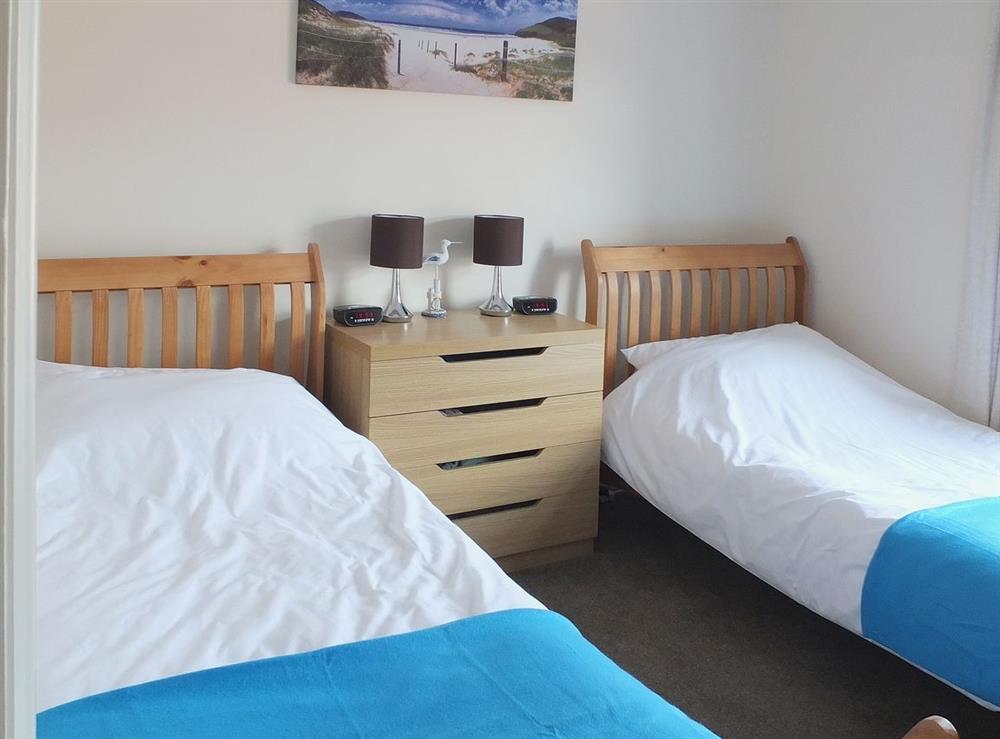 Twin bedroom at Samphire in Bacton, Norfolk