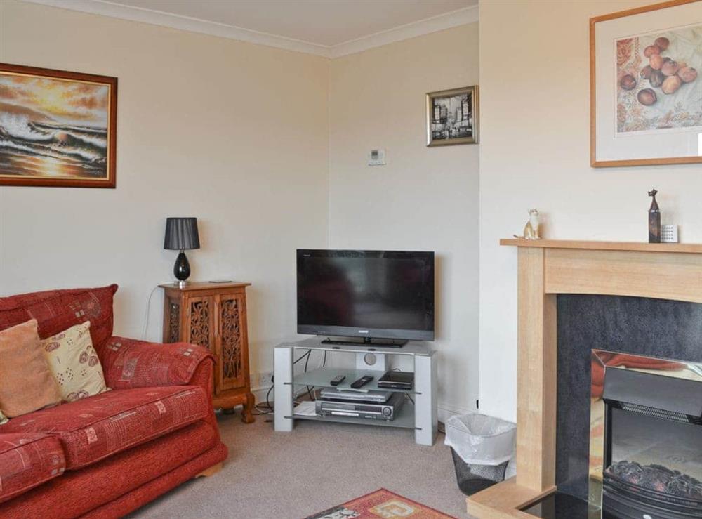Living room at Samphire in Brixham, Devon