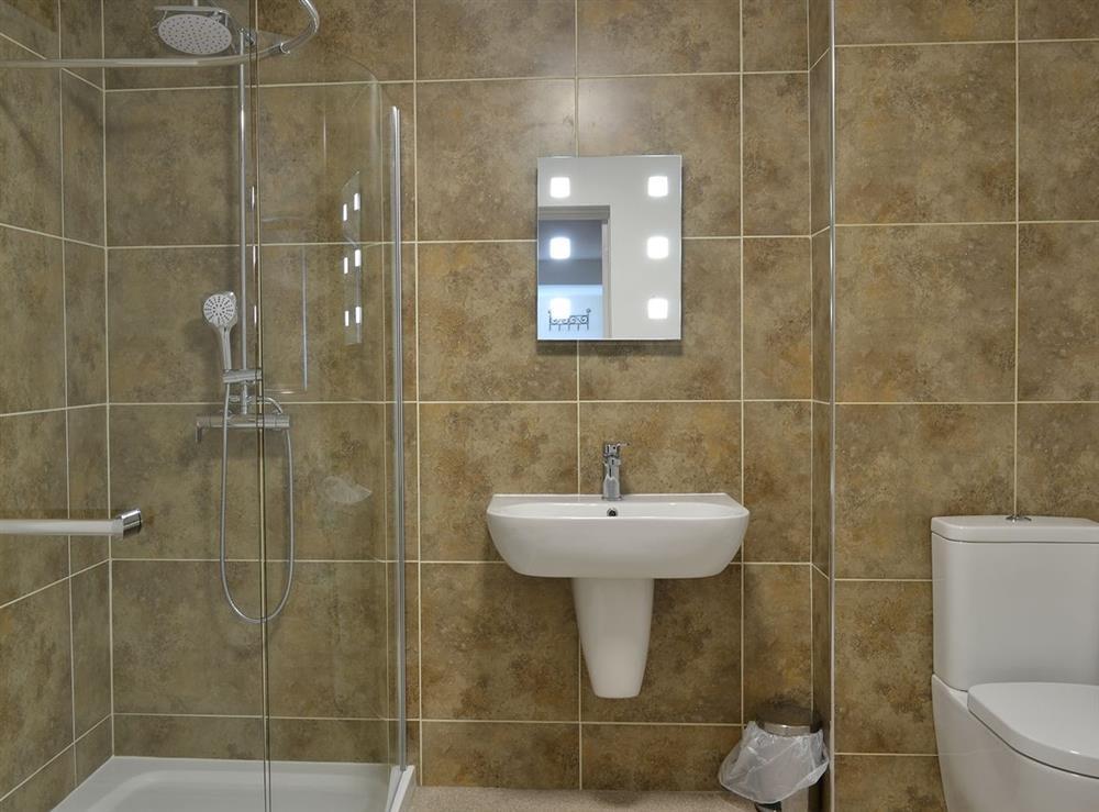 Shower room at Samphire in Brixham, Devon