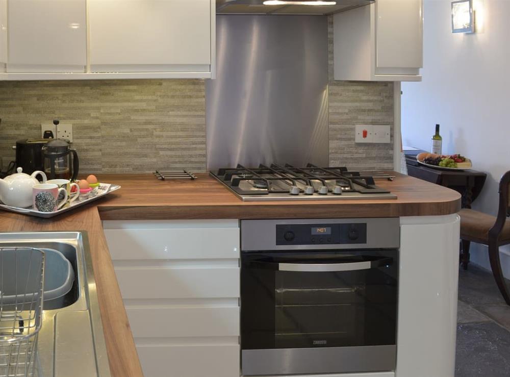 Modern, well equipped kitchen (photo 2) at Samphire Cottage in Brixham, Devon