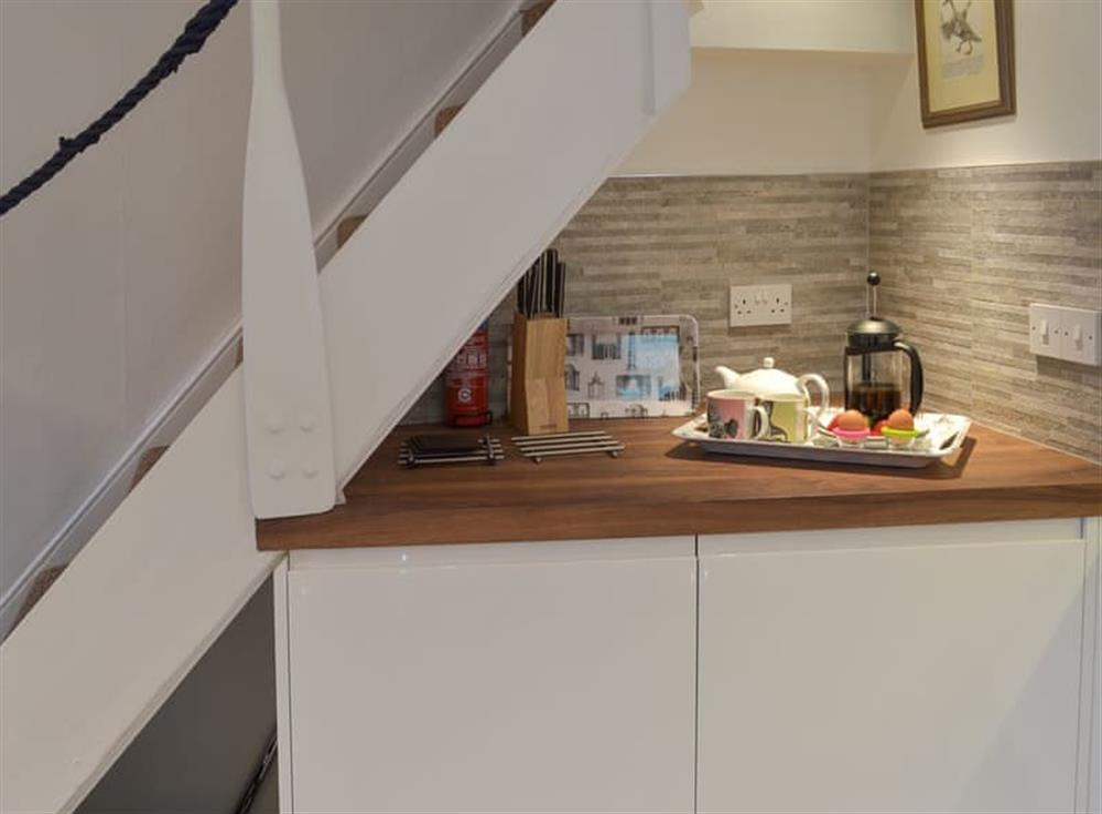 Modern, well equipped kitchen (photo 4) at Samphire Cottage in Brixham, Devon