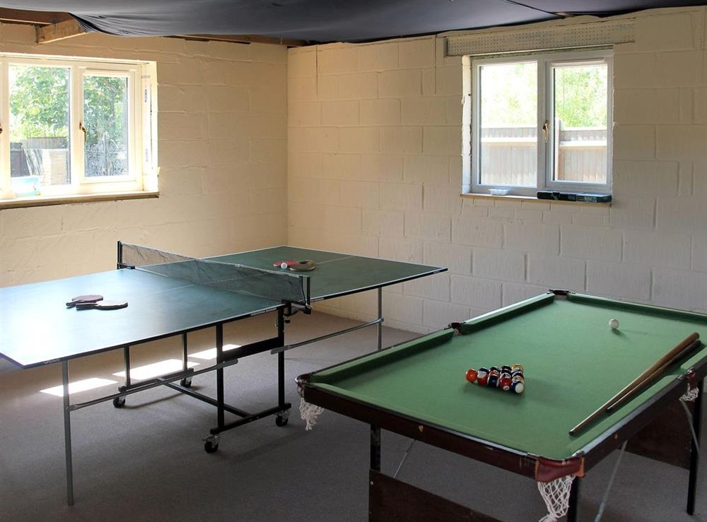 Games room at Sand Dune Cottage in Sea Palling, Norfolk