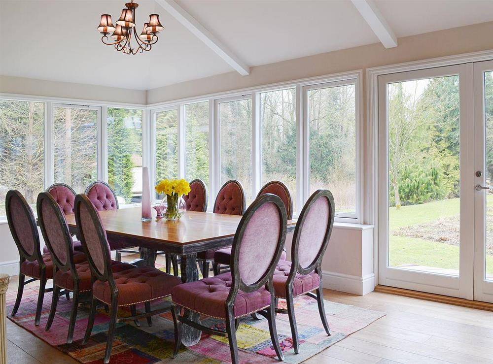 Dining room at Sandalls Marsh in Saxlingham Thorpe, Norfolk