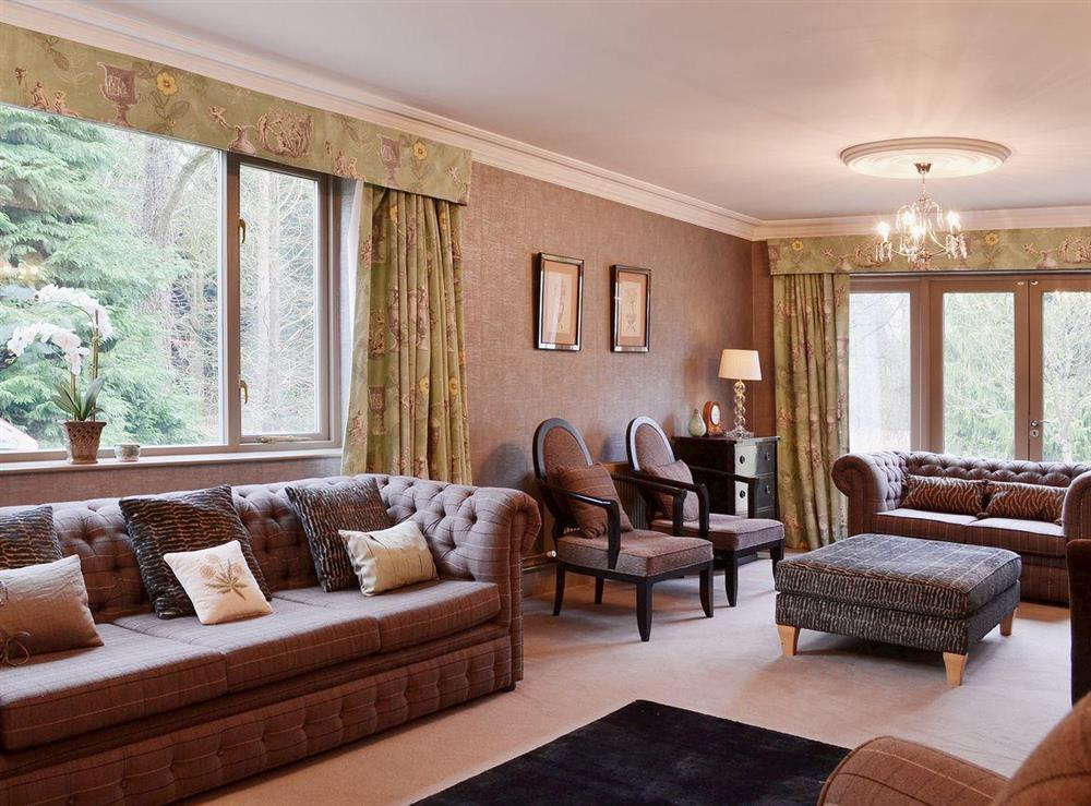 Living room at Sandalls Marsh in Saxlingham Thorpe, Norfolk