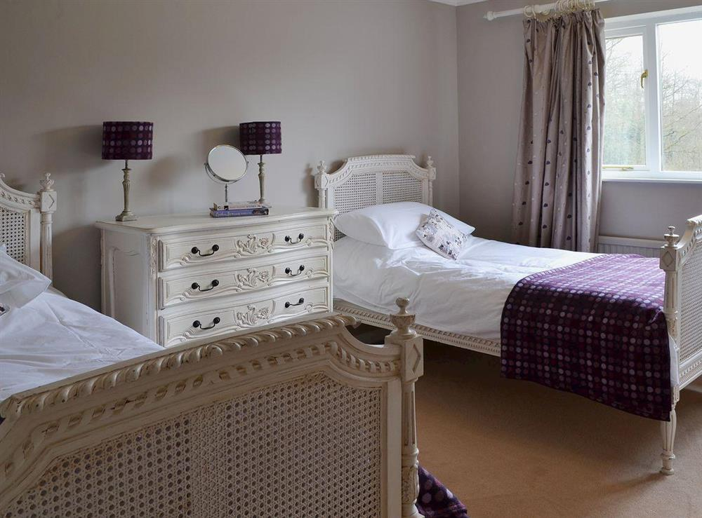 Twin bedroom at Sandalls Marsh in Saxlingham Thorpe, Norfolk
