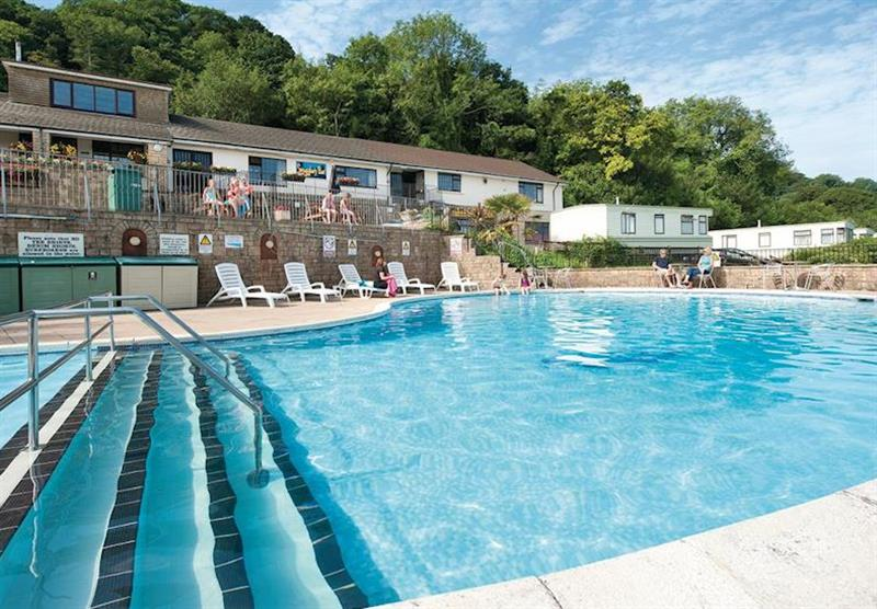 Outdoor heated swimming pool (photo number 6) at Sandaway Beach Holiday Park in , Devon
