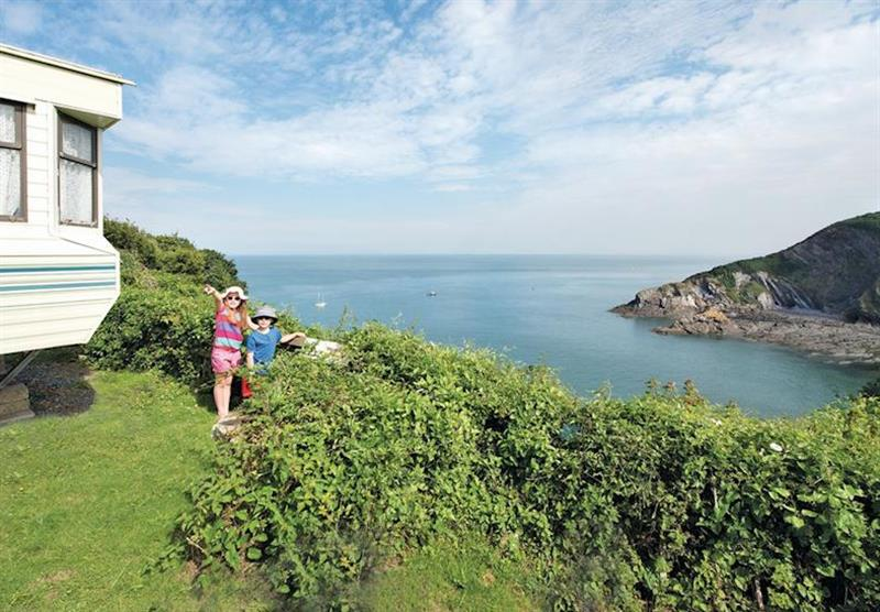 The park views at Sandaway Beach Holiday Park in , Devon