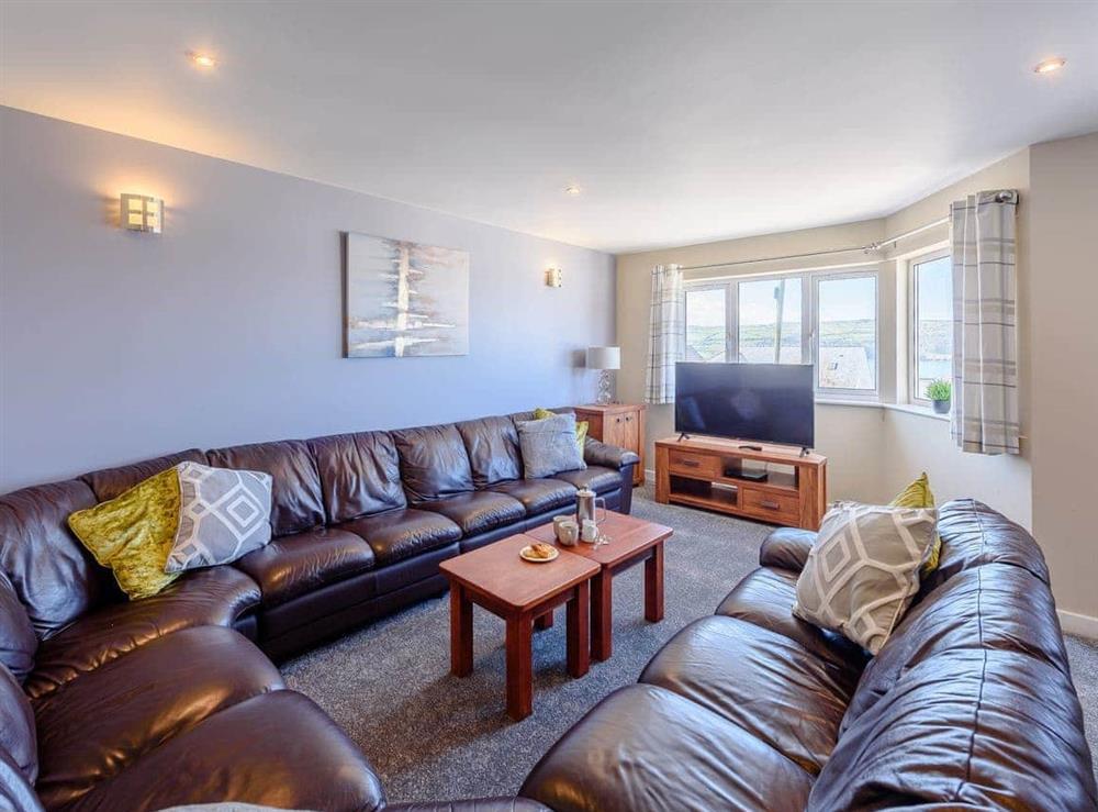 Living room at Sandbank in Gwbert, Dyfed