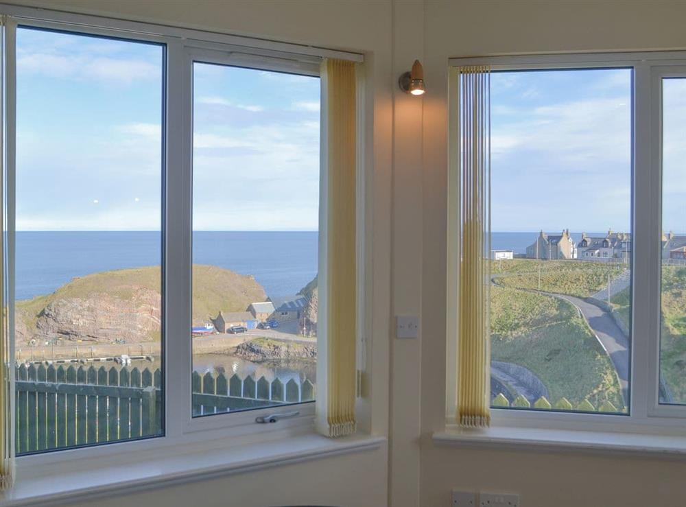 Wonderful bright and airy room overlooking the rugged coastline