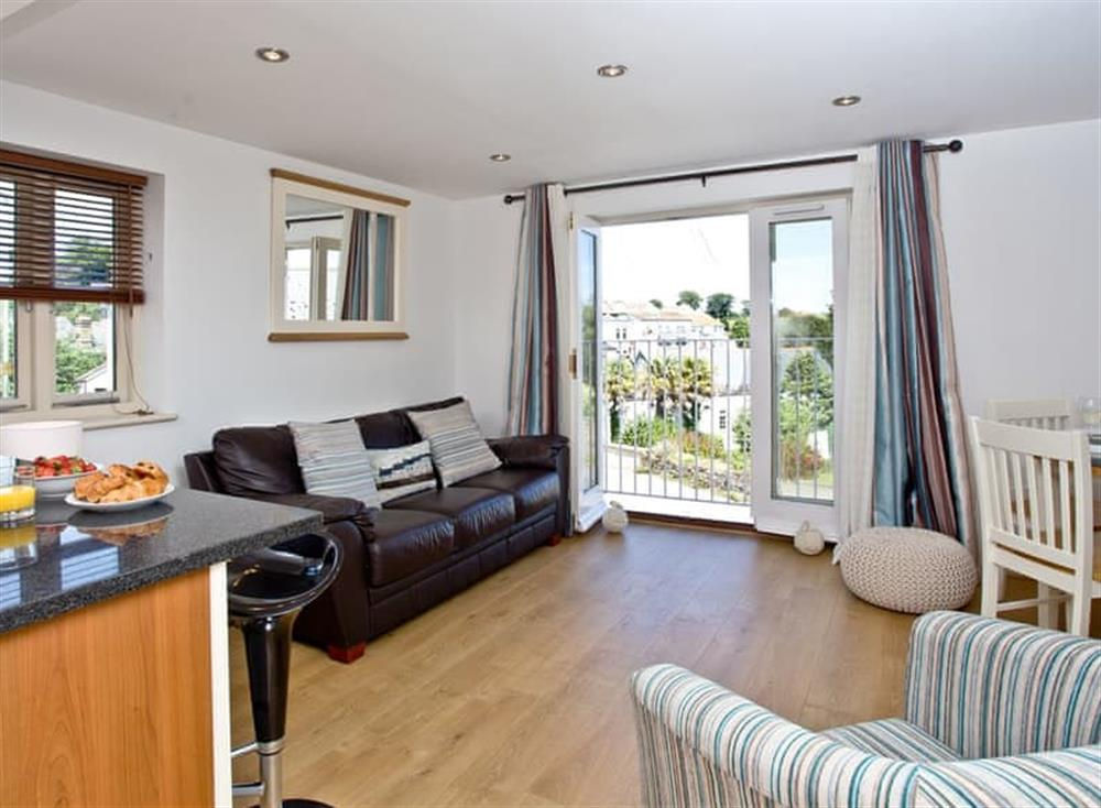 Open plan living space at Sea Gem in Endsleigh Court, Dartmouth