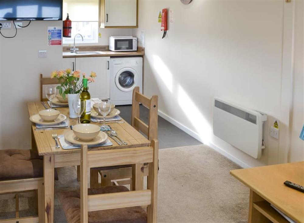 Intimate dining area at Sea Space in Bacton, Norfolk