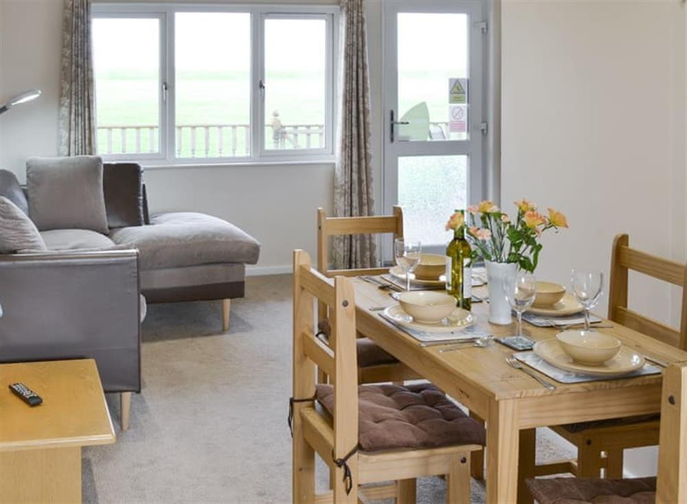 Light and airy living and dining area at Sea Space in Bacton, Norfolk