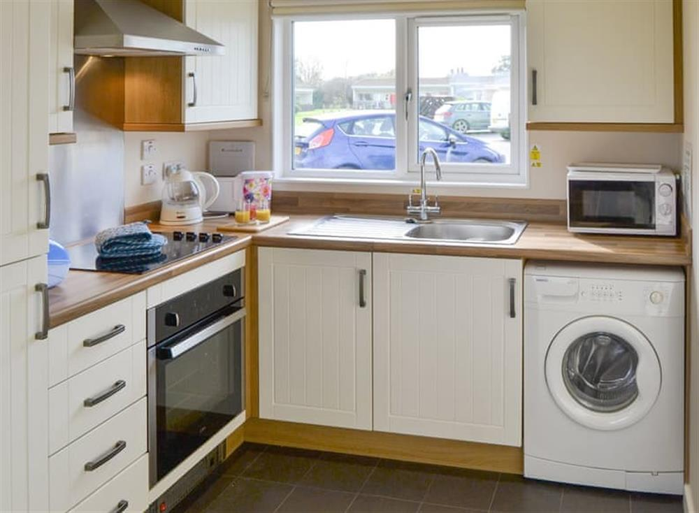 Well-equipped fitted kitchen at Sea Space in Bacton, Norfolk