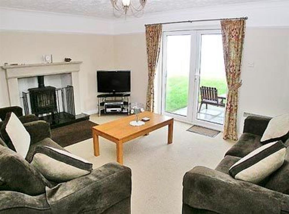 Living room at Sea Spray in Bacton, Norfolk