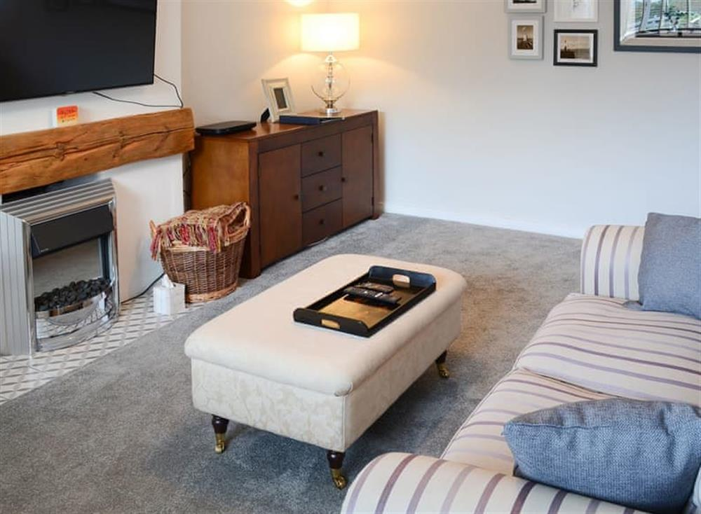 Comfortable living room at Sea Thistle Cottage in Nairn, Highlands, Morayshire