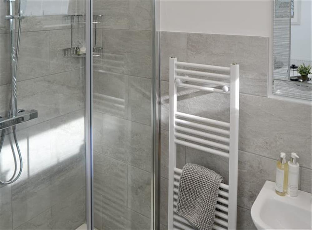 En-suite shower room at Seabreeze in Walcott, Norfolk