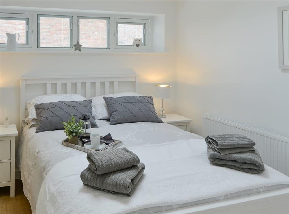 Relaxing double bedroom at Seabreeze in Walcott, Norfolk