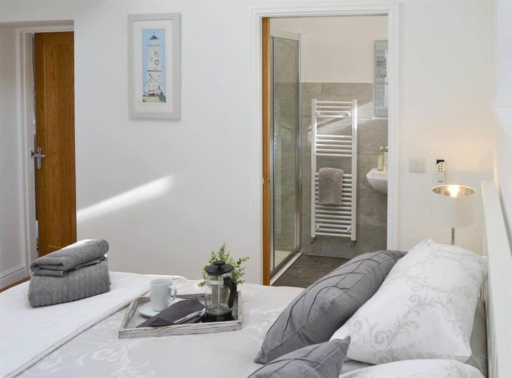 Stylish double bedroom at Seabreeze in Walcott, Norfolk