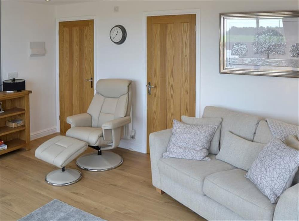 Stylish living area at Seabreeze in Walcott, Norfolk