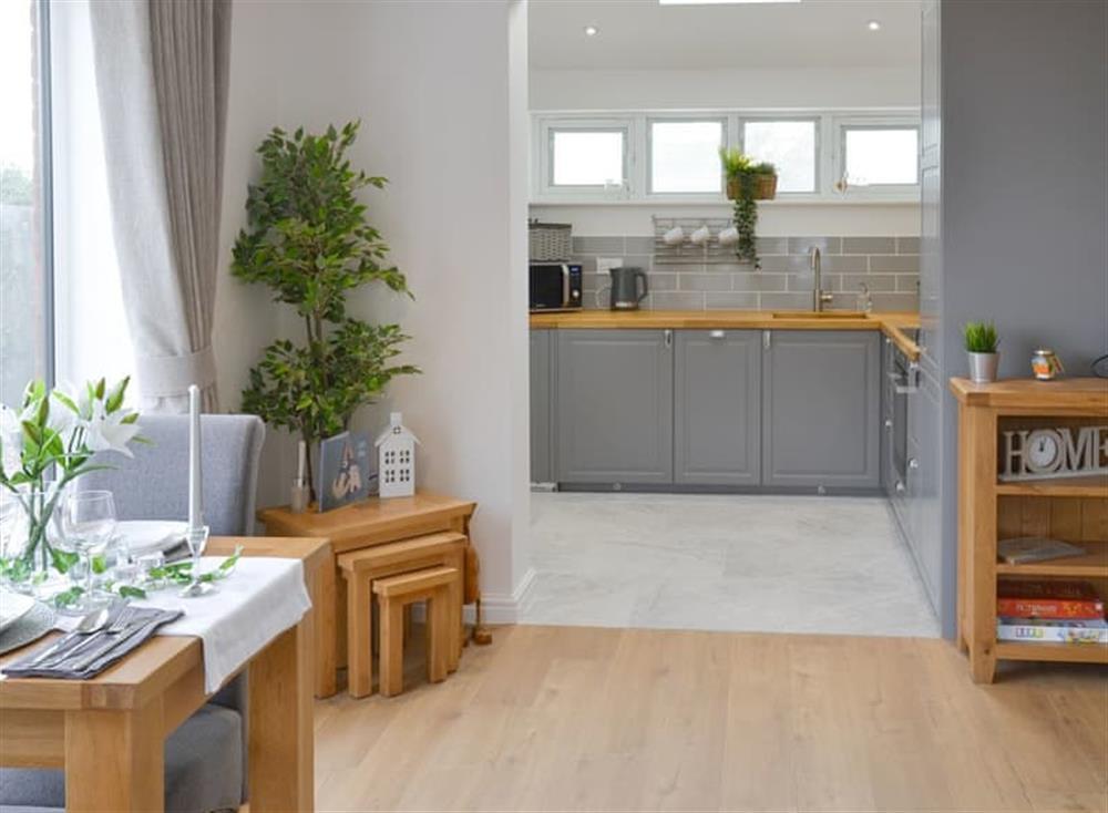 Stylish open-plan living space at Seabreeze in Walcott, Norfolk