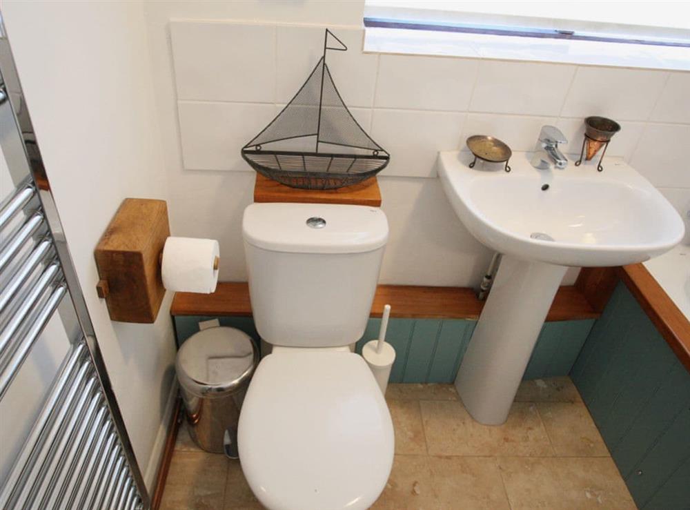 Bathroom at Seacliff Cottage in Strete, near Dartmouth, Devon
