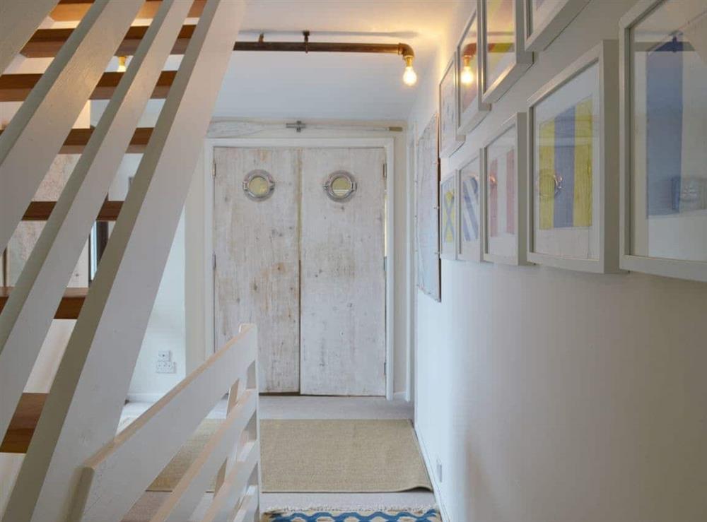 Hallway at Seacliff Cottage in Strete, near Dartmouth, Devon