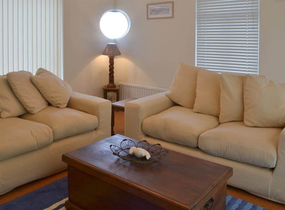 Living room at Seacliff Cottage in Strete, near Dartmouth, Devon