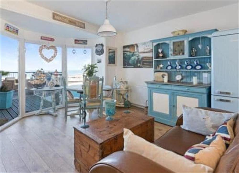 Living room/dining room at Seadeck in Brixham, Devon