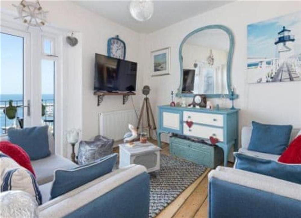 Living room at Seadeck in Brixham, Devon