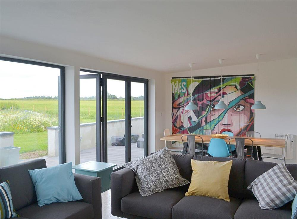 Stylish living/dining area at Seaglass Barn in East Ruston, near Stalham, Norfolk