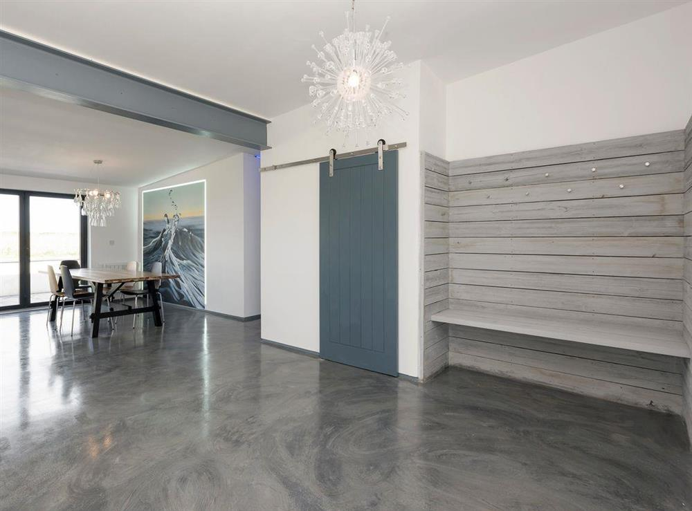 Polished concrete floor in the entrance area and throughout at Seaglass Barn (Sea),