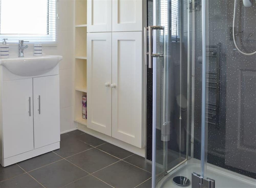 Chic contemporary shower room at Seahaven in Dartmouth, Devon