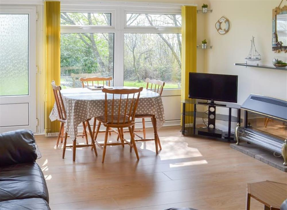 Modest dining area with lovely outlook at Seahaven in Dartmouth, Devon