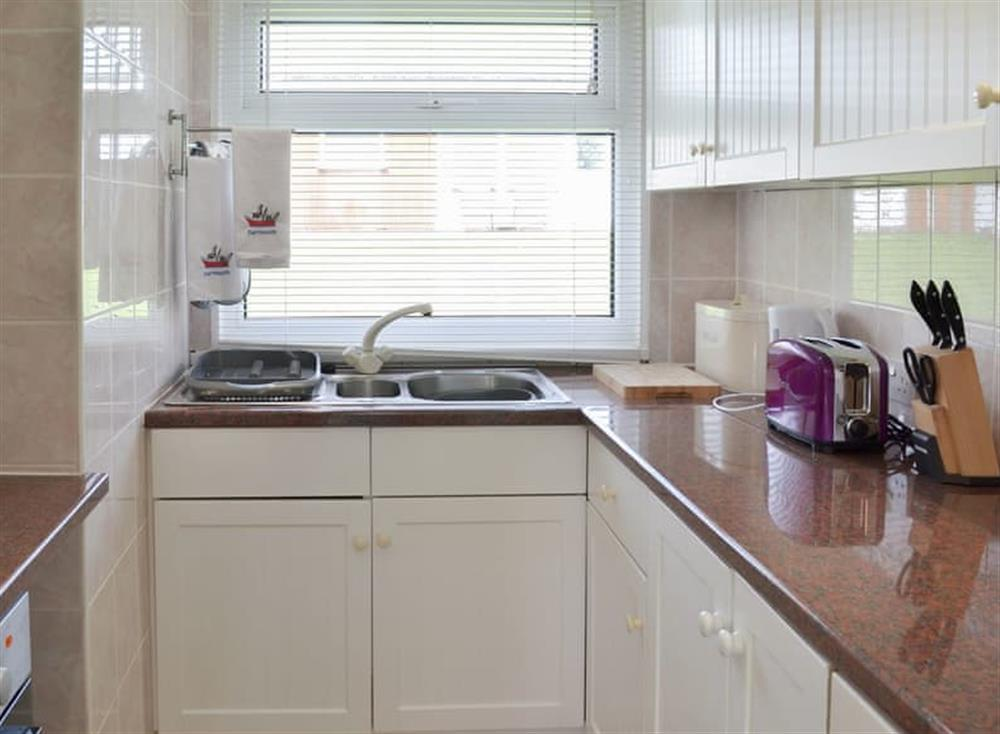 Well appointed compact kitchen at Seahaven in Dartmouth, Devon