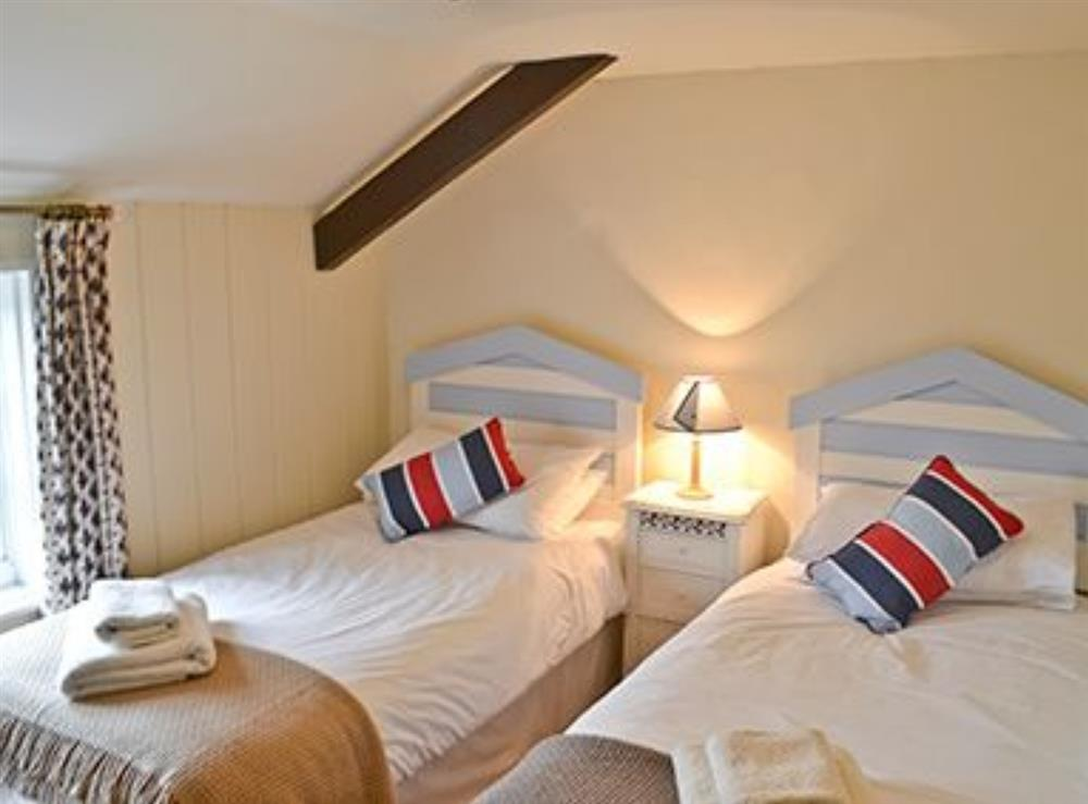 Twin bedroom at Jennys Cottage,