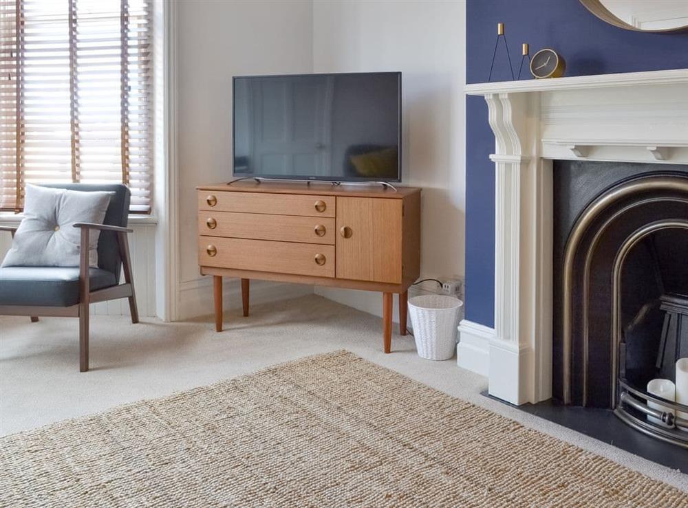 Welcoming living room at Seaside Mews in Cromer, Norfolk