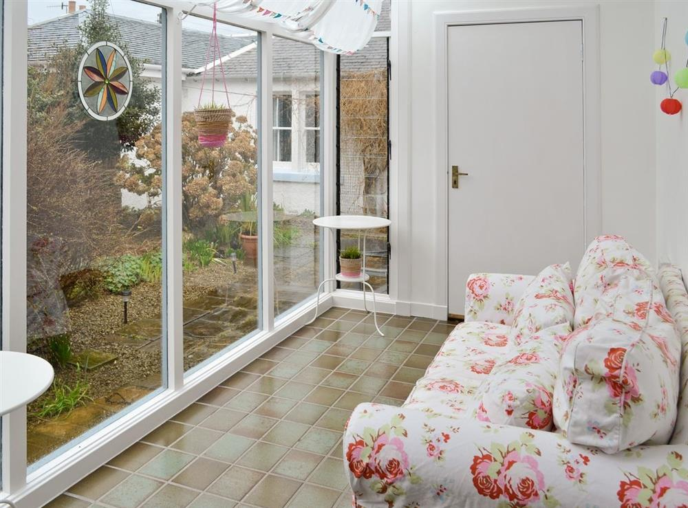 Conservatory at Seaview Cottage in Dunure, Ayrshire