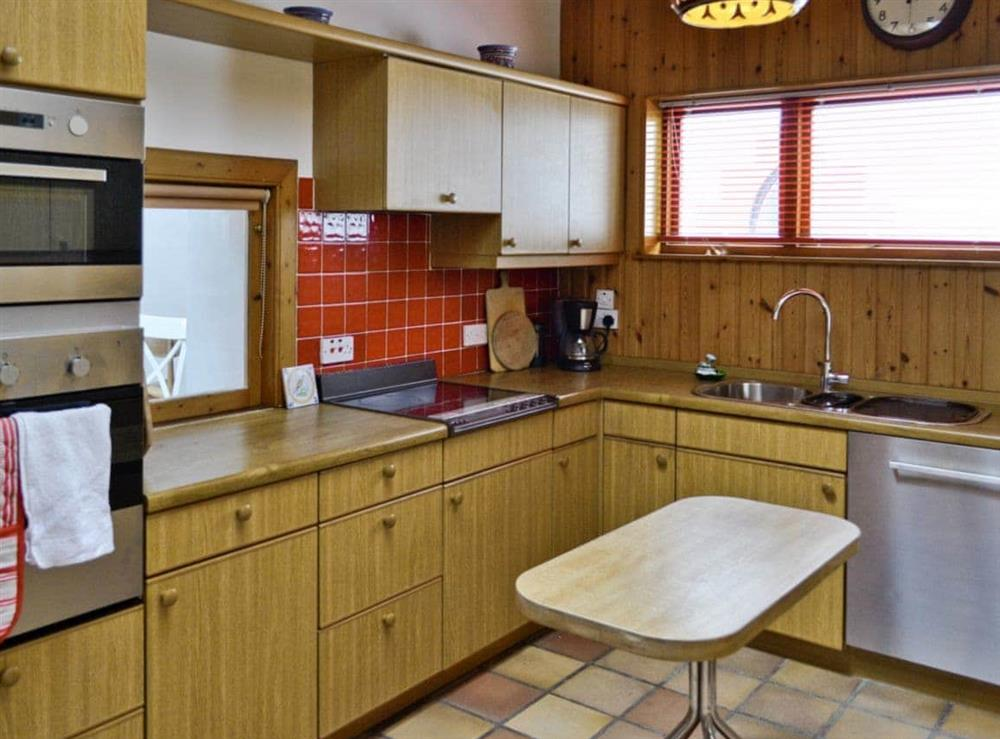 Kitchen at Seaview Cottage in Dunure, Ayrshire