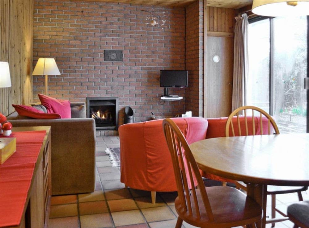 Living room at Seaview Cottage in Dunure, Ayrshire