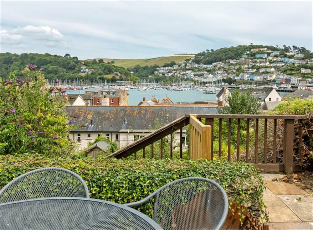 Relaxing sitting-out-area with amazing views at Seaview in Dartmouth, Devon