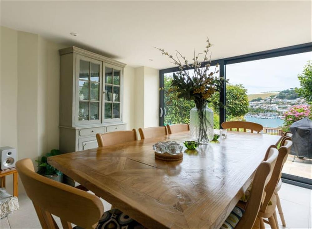 Spacious dining area at Seaview in Dartmouth, Devon