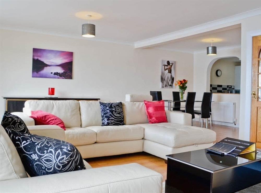 Open plan living/dining room/kitchen at Seaview in Oban, Argyll