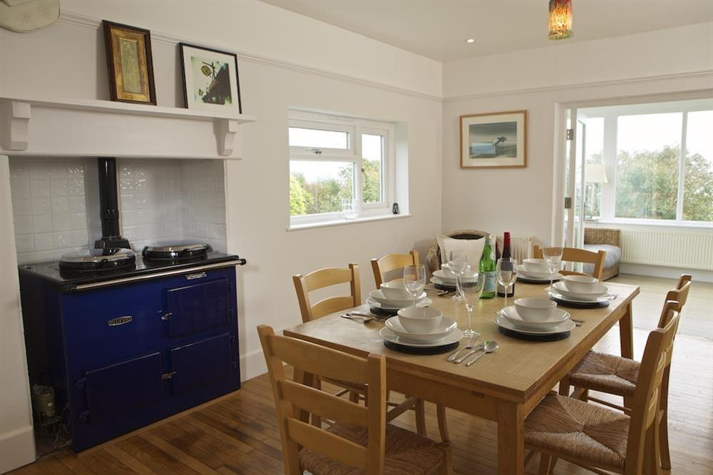 Dining table with seating for six at Seaway House in , Strete
