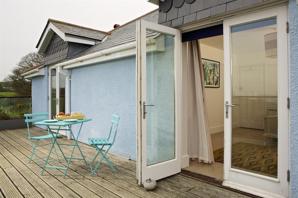 Enjoy breakfast on the balcony at Seaway House in , Strete