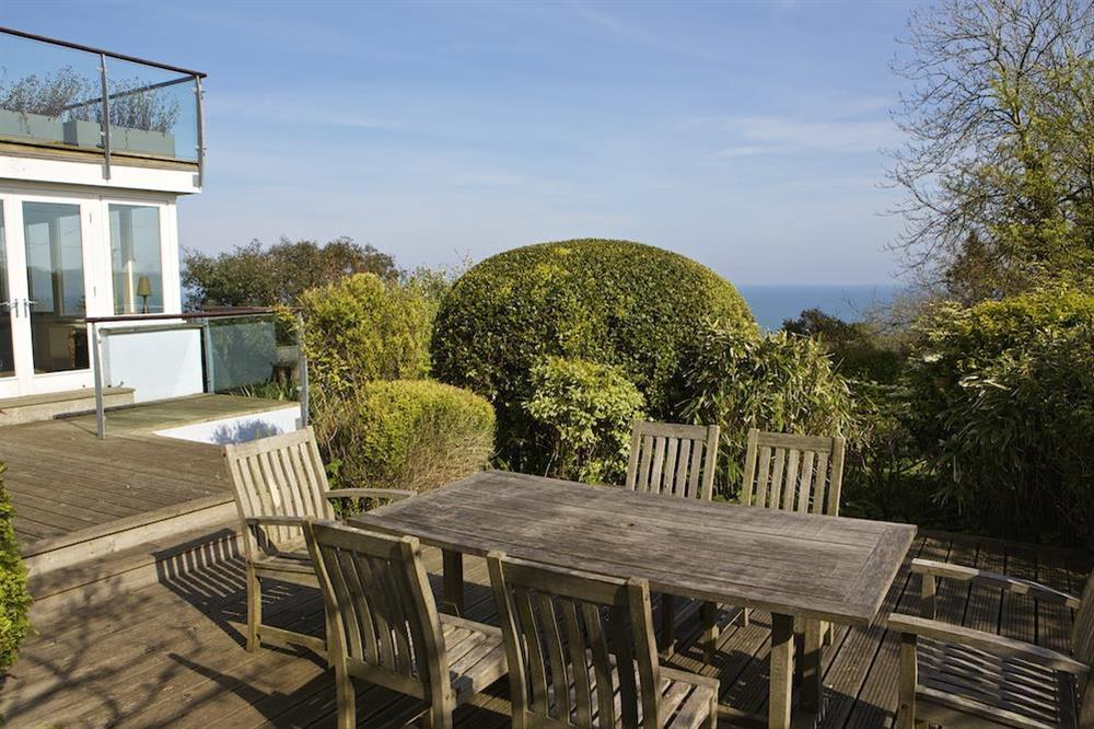 Enjoy outdoor dining at Seaway House in , Strete